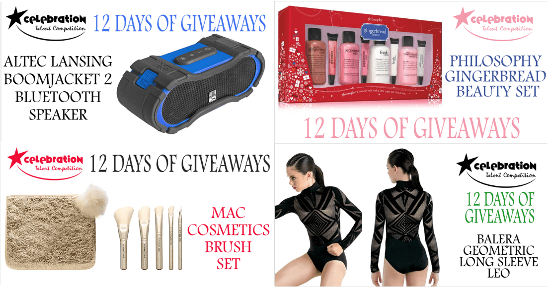 12 days of Christmas giveaways prizes