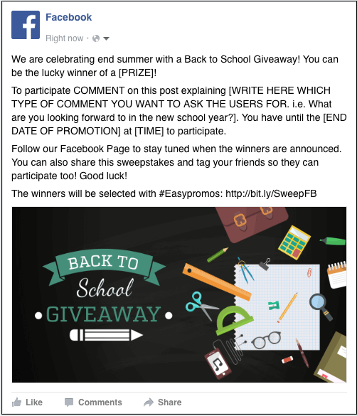 Back to School campaign template