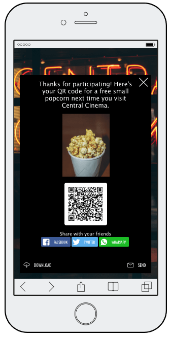 Emmys giveaway coupon QR code