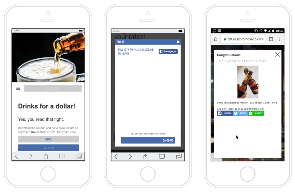 Coupons for Facebook followers