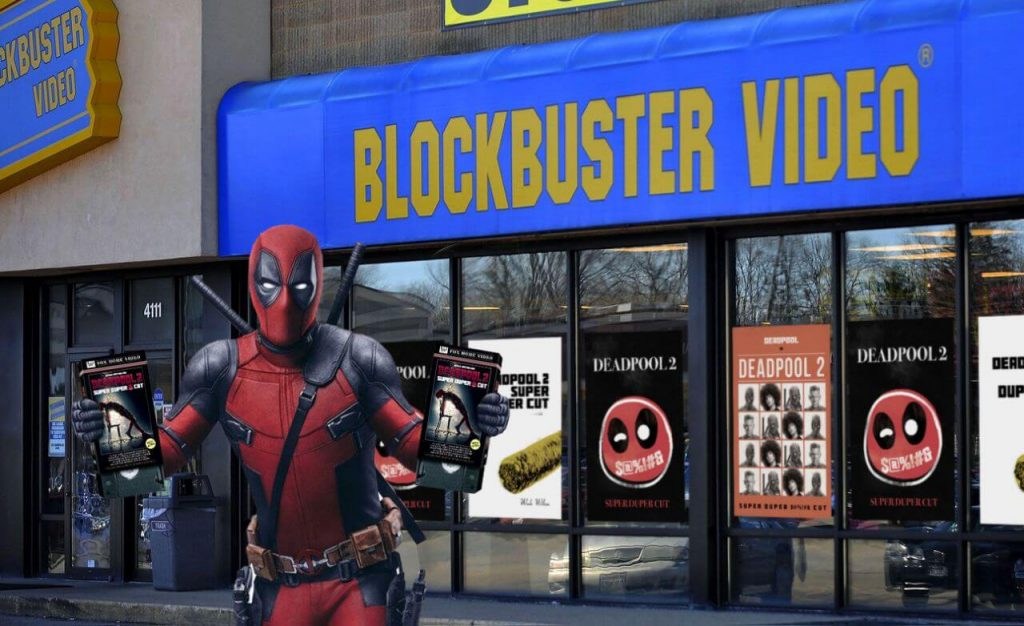 Retro pop-up Blockbuster store for experiential retail promotion