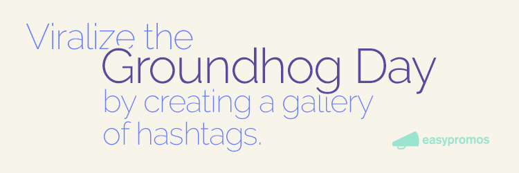 Viralize the groundhog day by creating a gallery of hashtags