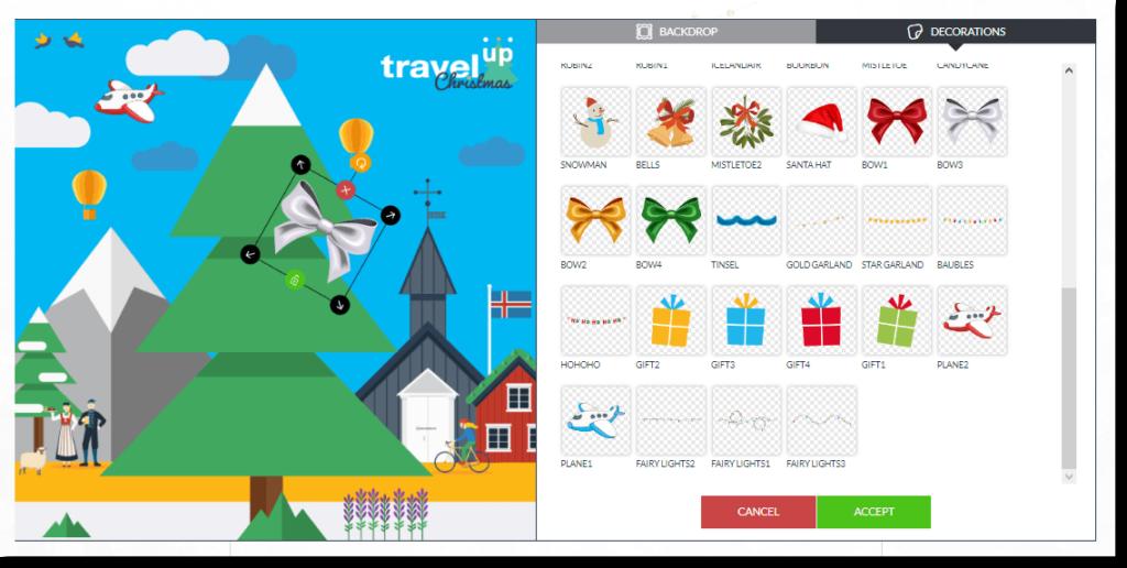 Christmas Photofun screenshot, data collection, data marketing and lead collection