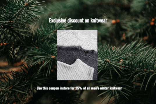 Christmas promotions fashion coupons