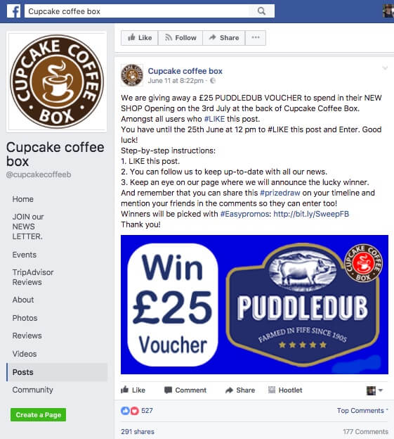 Cupcake_Coffee_Box_Facebook_Sweepstakes