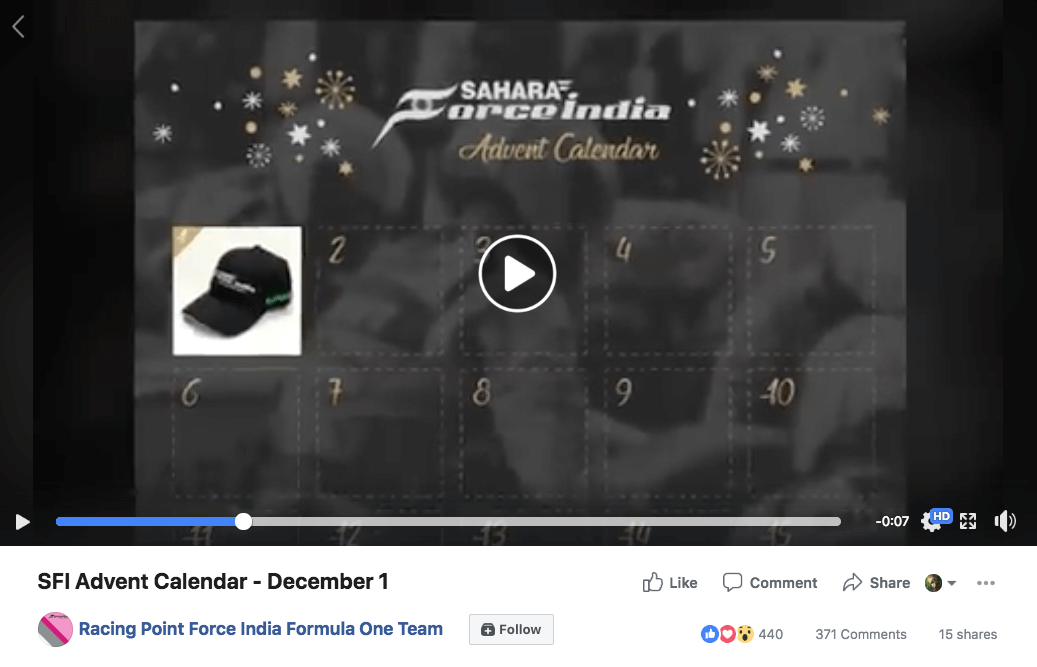 Facebook Christmas campaigns Advent Calendar
