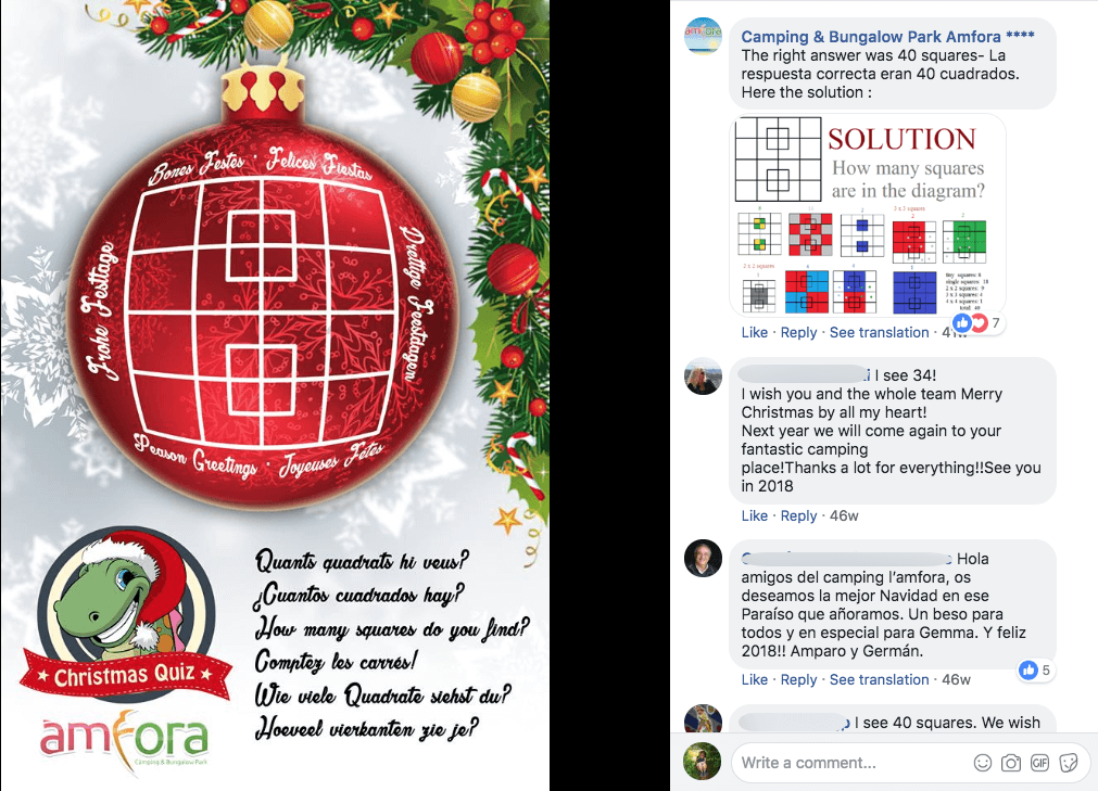 Facebook Christmas campaigns puzzle