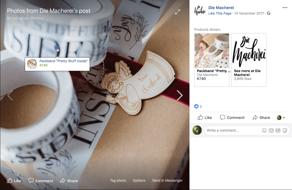 Facebook Christmas campaigns shopping tags