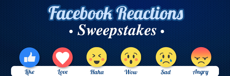 Facebook Reactions Sweepstakes
