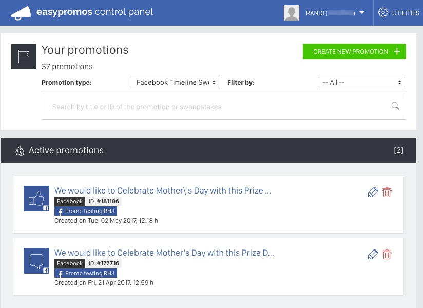 Facebook_Sweepstakes_list_control_panel