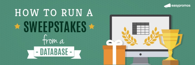 How to run a sweepstakes from a database