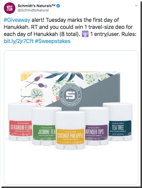 Hanukkah Twitter giveaway