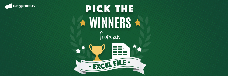 pick the winners from excel file