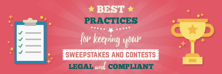best practices sweepstakes contest legal