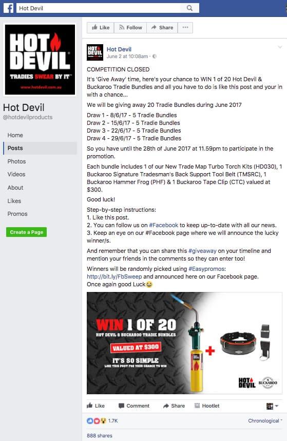 Wording For Facebook Giveaway
