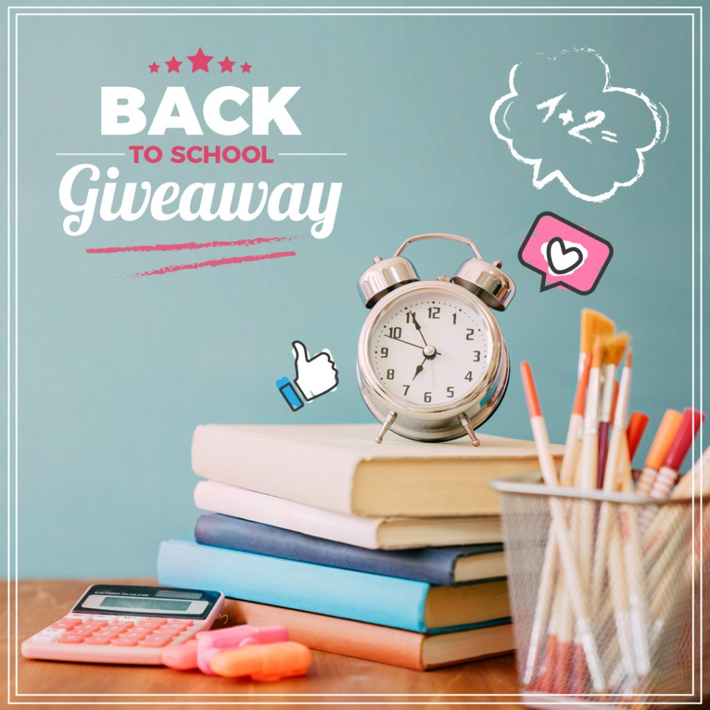 Back to School giveaway on Instagram