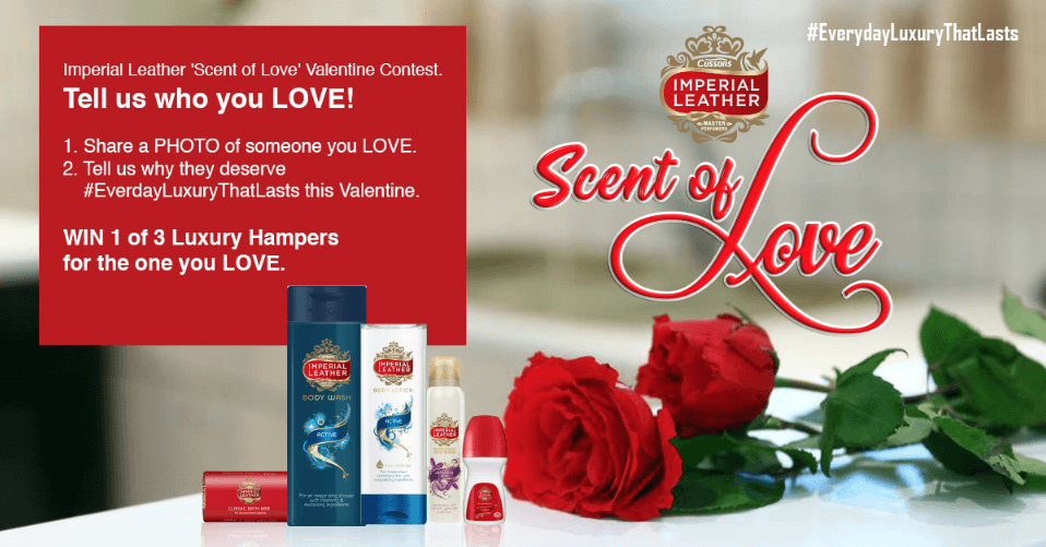 Image explaining rules of Valentine's Day photo contest for beauty products