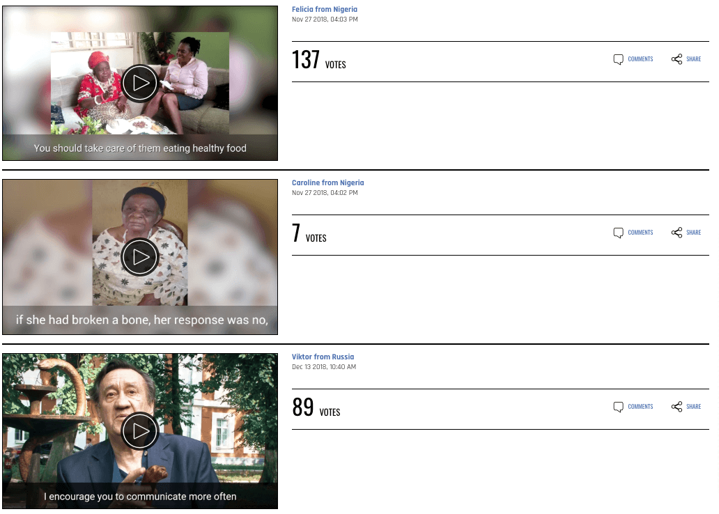 Image of IOF video contest voting gallery