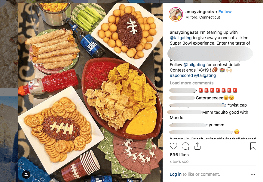 Image of Super Bowl Instagram giveaway with recipe contest