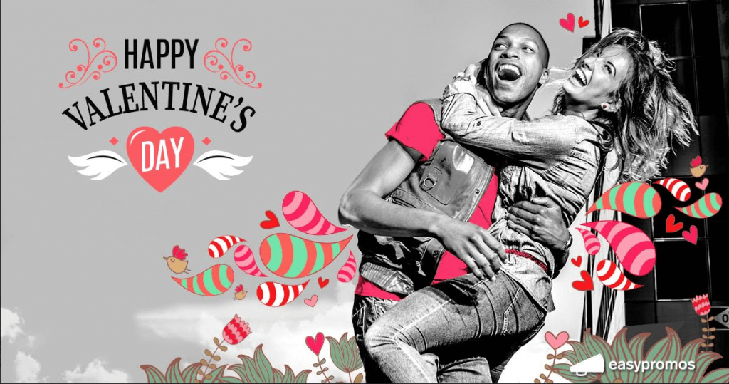 Image of Valentine's Day quiz with greetings card as prize