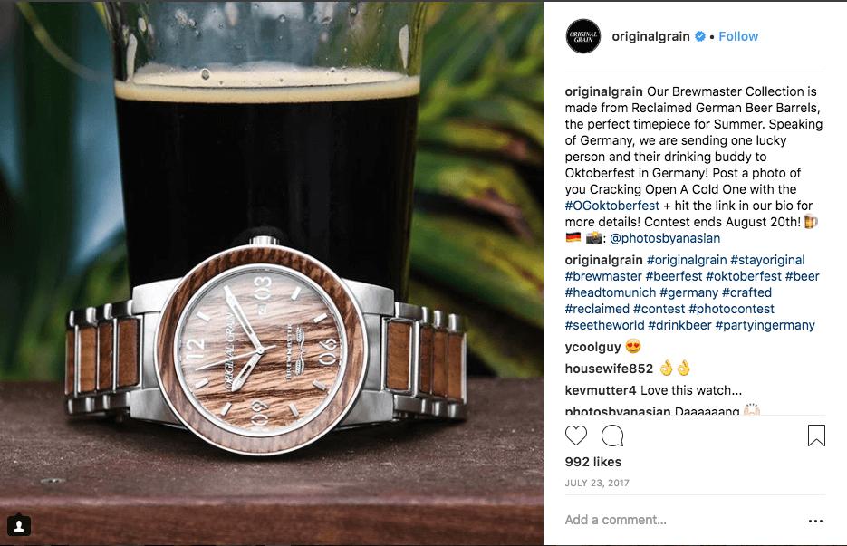 Oktoberfest giveaways Instagram hashtag