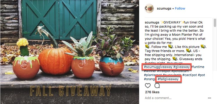 Instagram_Sweepstakes_use_hashtags