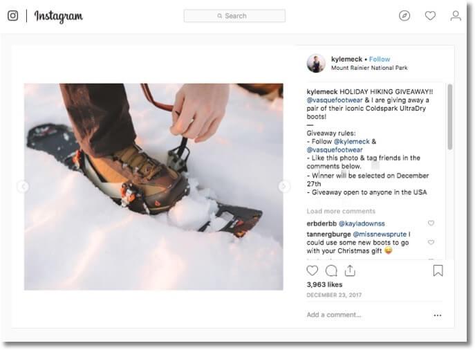 winter giveaway ideas on instagram