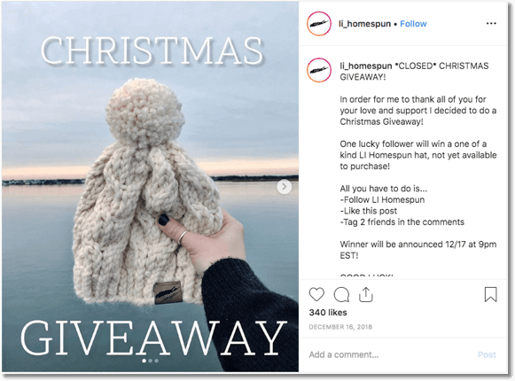 Instagram Christmas campaign idea