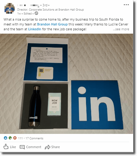 Generate leads with interactive content linkedin example