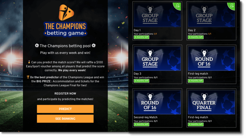 DEMO of the Multi-Round Predictions for Champions League