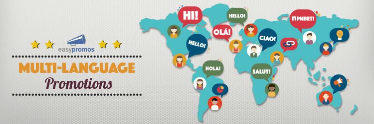 multi-language promotions
