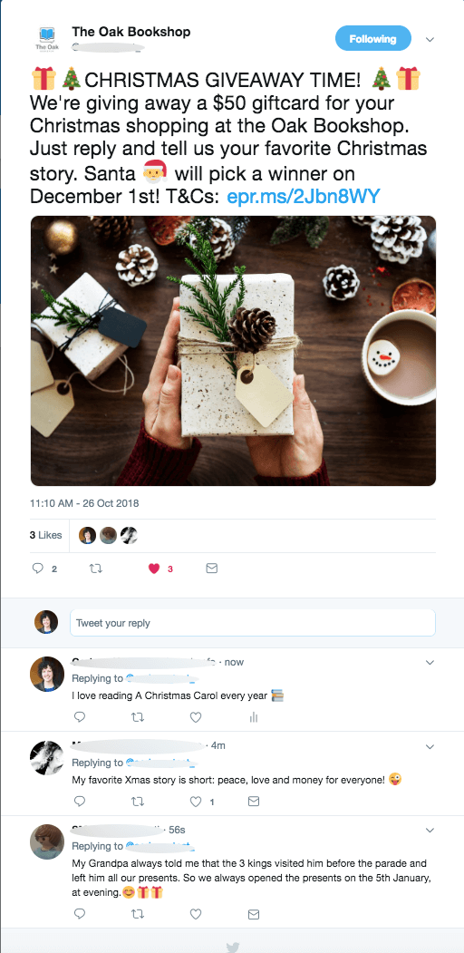 Multinetwork Twitter comments Christmas