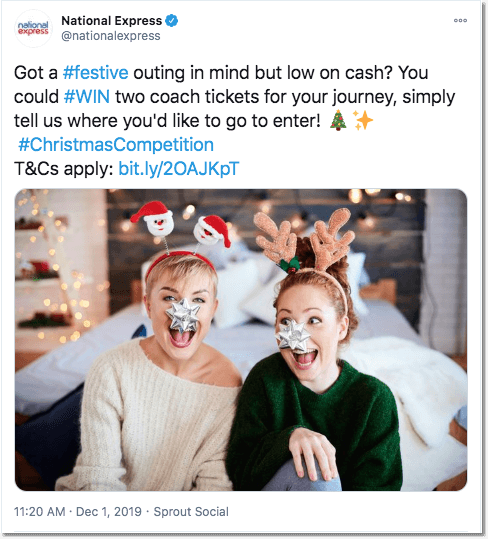 Christmas Twitter giveaway: National Express