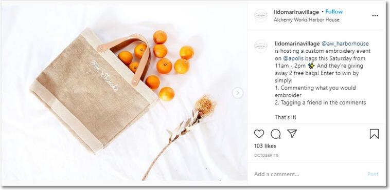 online events social media giveaway