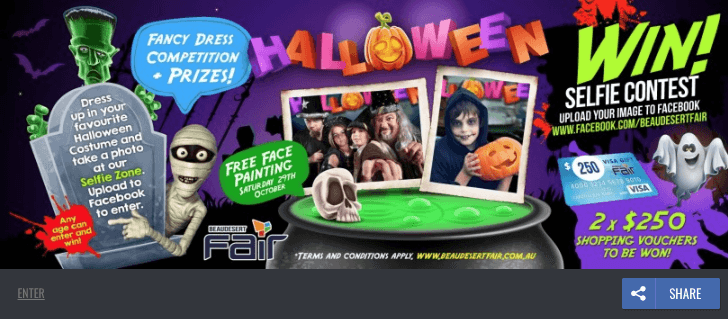 Halloween promotions on Facebook comments photos