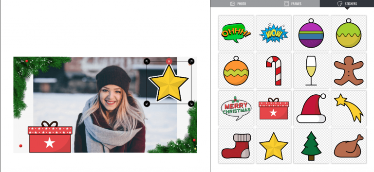 PhotoFun app stickers for customization