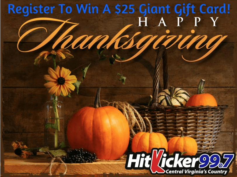 Thanksgiving promotions register gift card giveaway