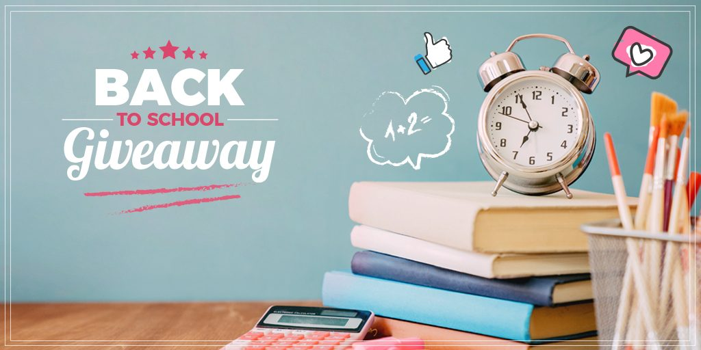 Back to School giveaway on Twitter