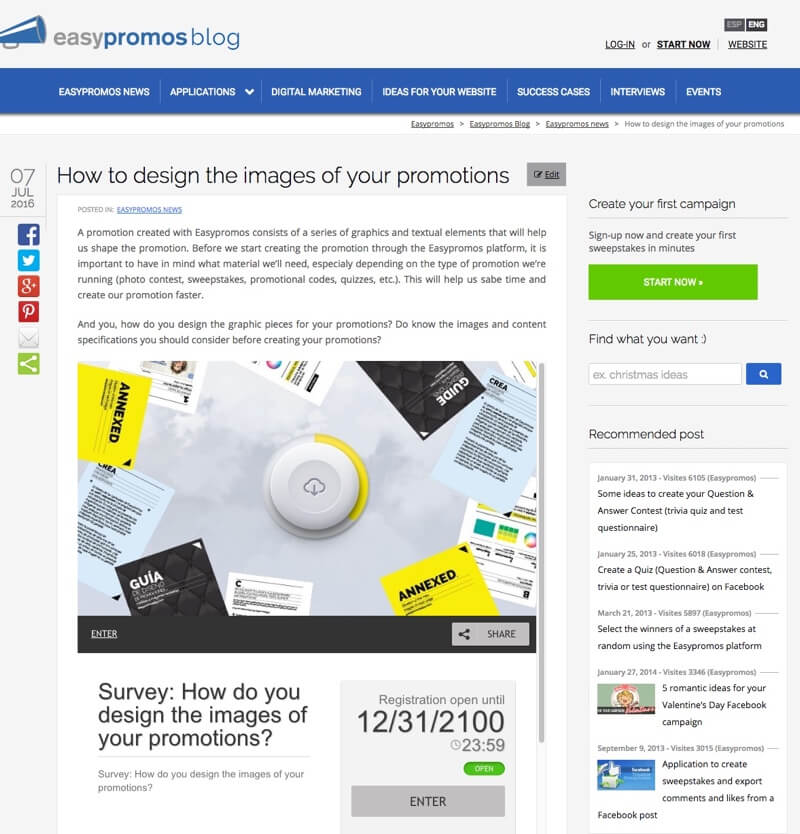 Embed and Display your Promotion in Any Website with