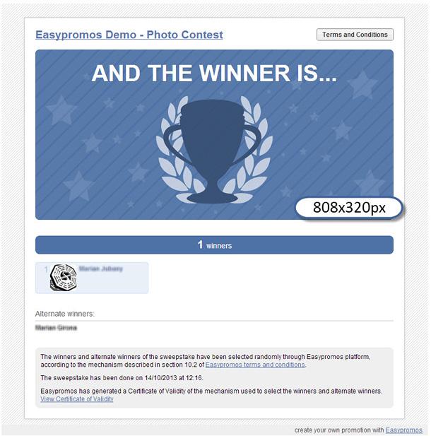 Winners image template