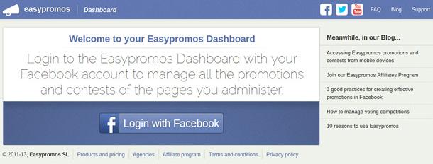 Access Easypromos Dashboard
