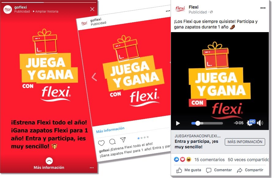 Flexi ads on social media, lead generation campaign with games