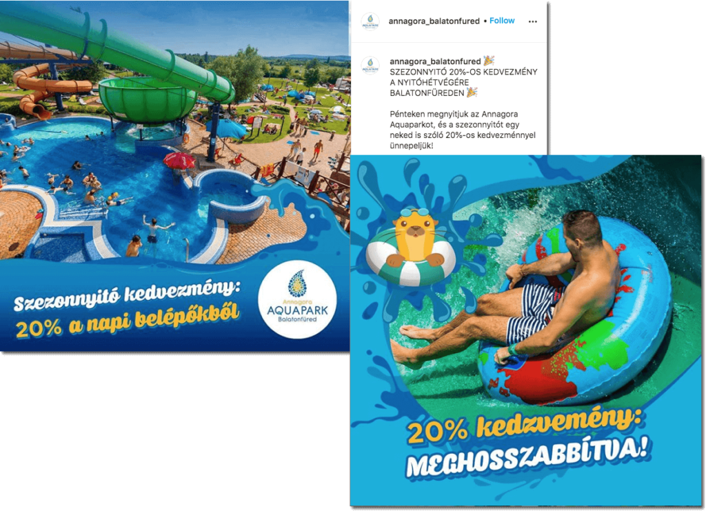 coupon campaign, Annagora Aquapark