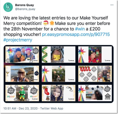 twitter barons quay sharing user-generated content