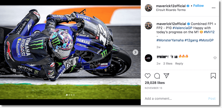 Bewolfish success case: personal branding for athletes. Screenshot of Maverick exposing his sponsors' logos.
