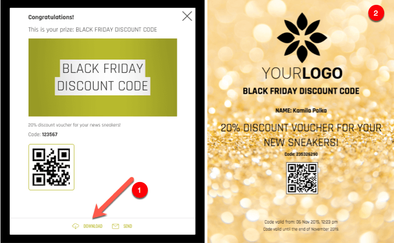 black friday coupon code app
