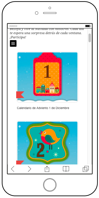 mobile advent calendar