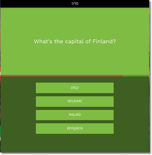 father's day timed quiz, example of a quiz about european capitals