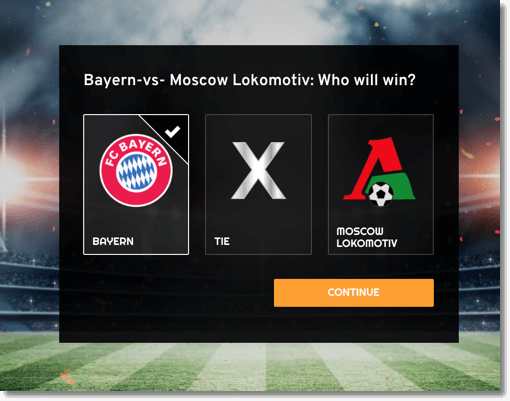 Multi-Round Predictions application for Champions League