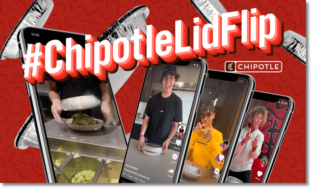 ChipotleLidFlip challenge, brand voice through creative marketing strategies